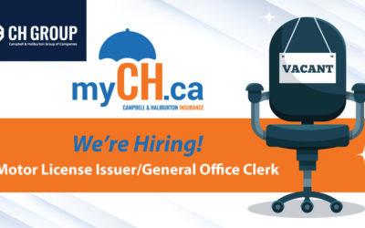 Campbell & Haliburton Insurance Hiring Motor License Issuer/General Office Clerk